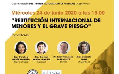 Charla organizada por Colegio de Abogados de San Isidro (Buenos Aires) y AIJUDEFA